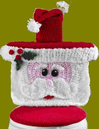 Papá Noel en crochet: Juego de baño A4wv20
