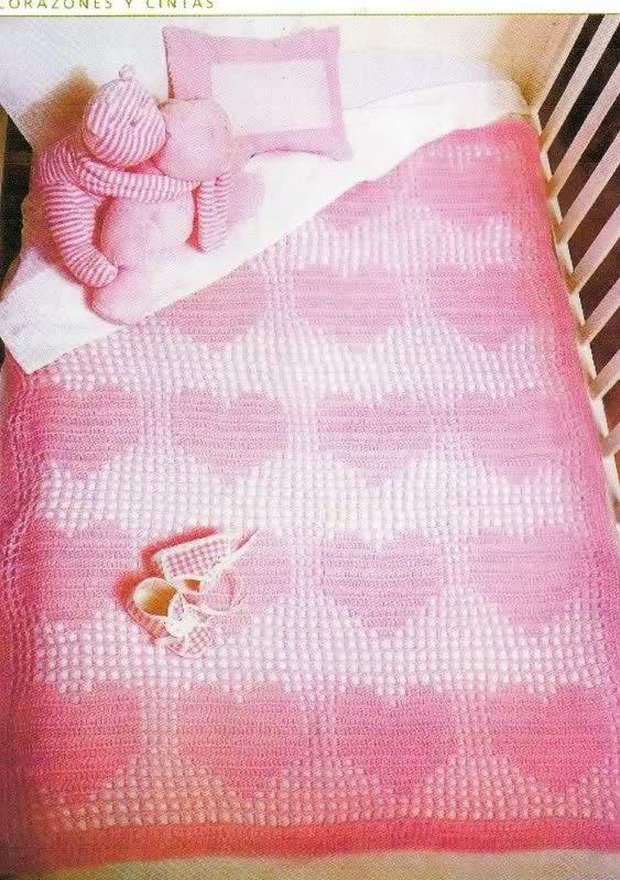 patrones - Patrones de Mantitas para bebés (Tejidas a crochet para Marijou) 168wm7o