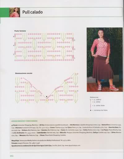 Crochet - Sueter de mangas cortas 210g32e