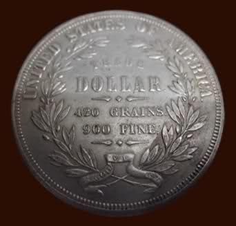 Un Trade Dólar de 1872 (Dólar de Comercio) de los Estados Unidos. 2ag6e1c