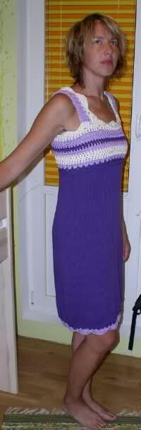 kootud - Kootud kleit heegeldatud passeosaga DROPS 101-27 2enpxya