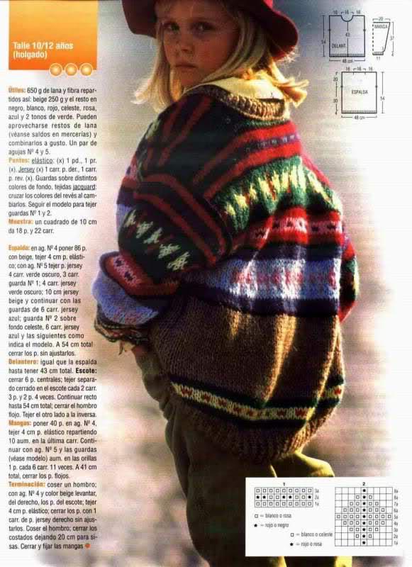 niña - Busco patron para una chaqueta niña de 10 años 2n1s7eu