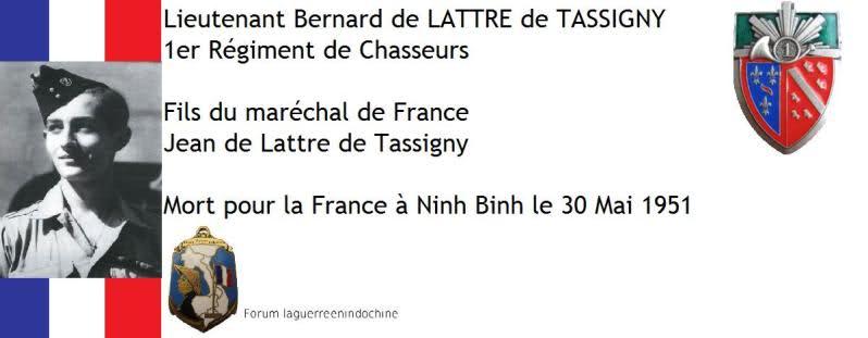 Lieutenant Bernard de LATTRE de TASSIGNY MPLF 1951 2py3uir