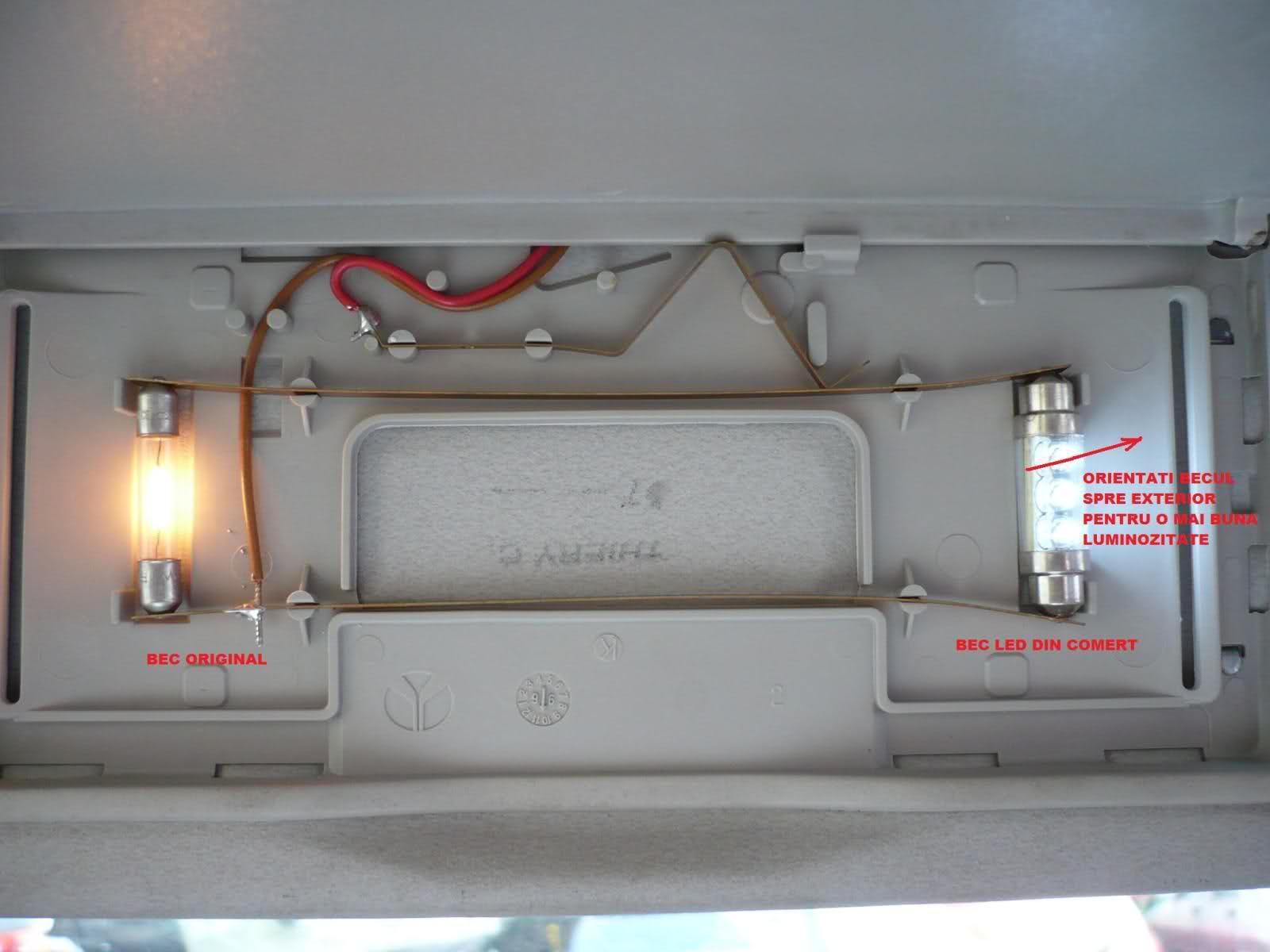 Tutorial inlocuire becuri in parasolare Vectra B 8y8j0w
