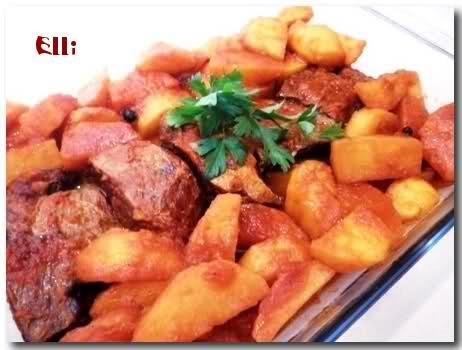 Μοσχαράκι με πατάτες γιαχνί A4a1ac