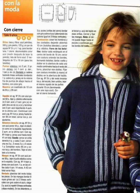 niña - Busco patron para una chaqueta niña de 10 años M75k7t