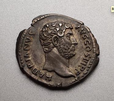 Denario de Adriano. HISPANIA. Hispania recostada a izq. (conejo en los pies). Roma. 1443clt