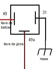 ¿Como se conecta el destellador de luces de giro? 14waume