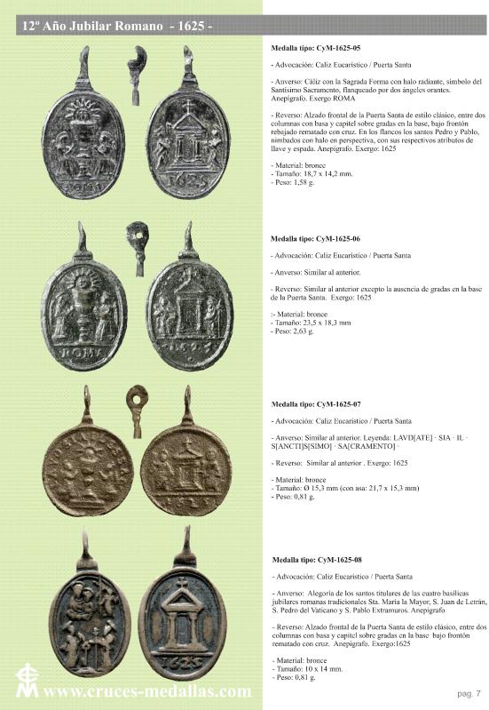 jubilares - Recopilación de medallas con fecha inscrita de los Años Jubilares Romanos  156pset