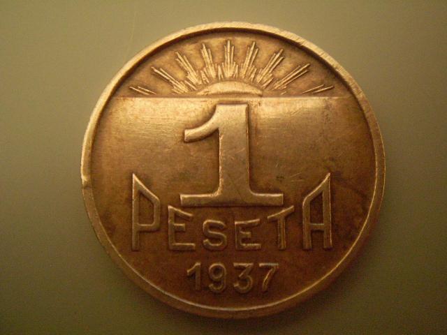 1 Peseta 1937 Consejo de Asturias Y León  15np2pu