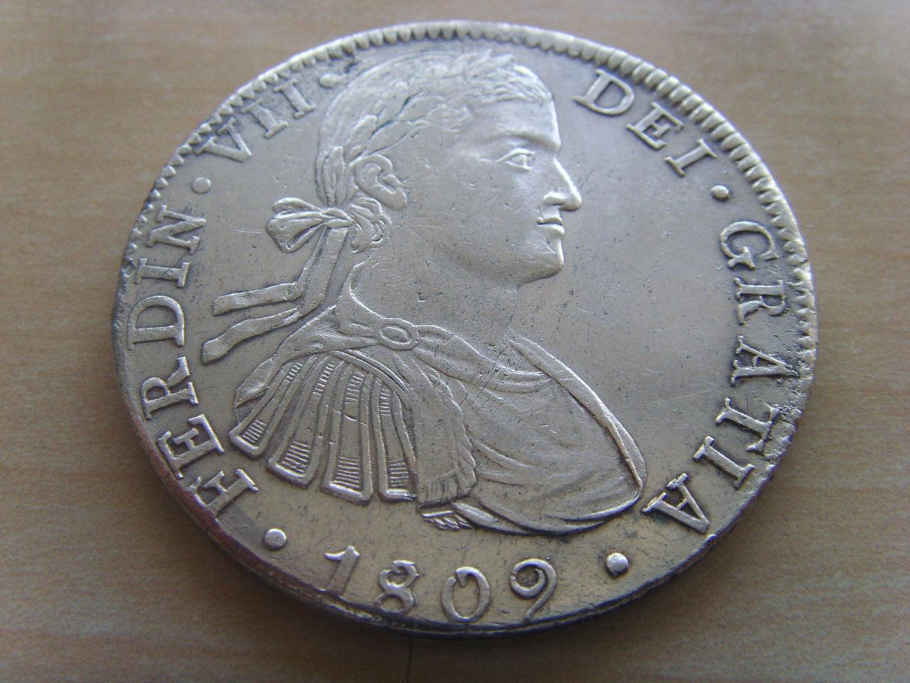 8 Reales Fernando VII (México 1809) BUSTO IMAGINARIO 15y68hj