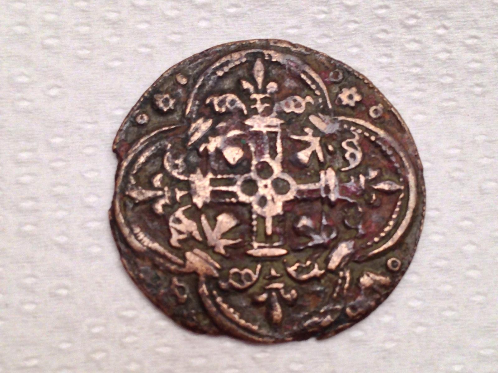 Jetón francés. siglo XV. AVE MARIA GRATIA 1hrzhh