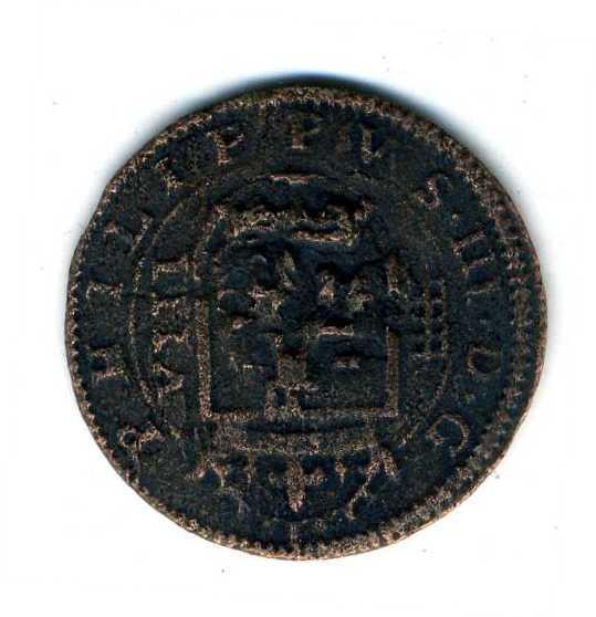8 Maravedis de Felipe III Segovia 1604 con una reacuñación del anagrama. 1roups