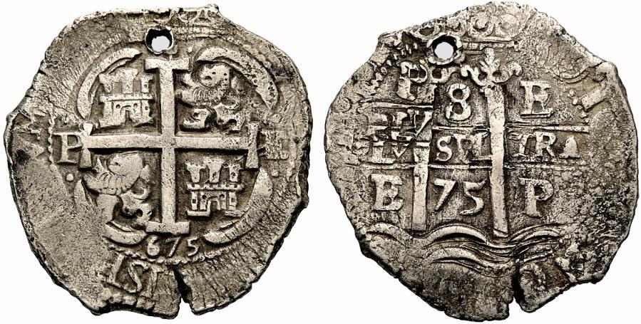 8 reales 1675. Carlos II. Potosí 1zcn51k