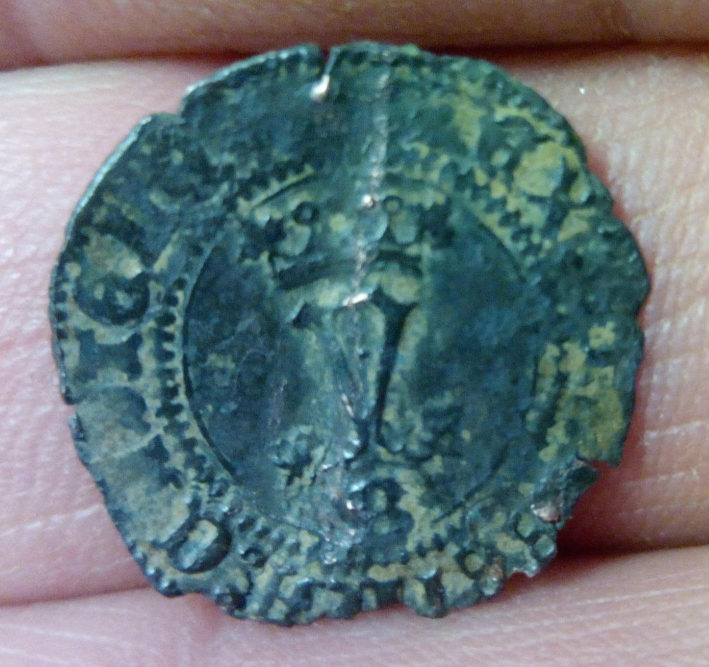Blanca c.1516 Carlos y Juana a nombre RR.CC. Ceca de Burgos 28svjh2
