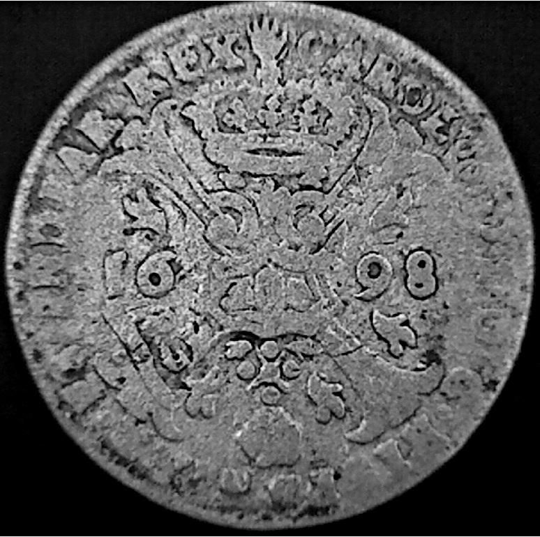 4 Patards (= 4 stuivers = 4 sols ) de Carlos II, 2a5aebm
