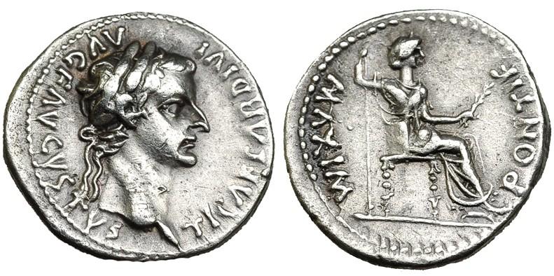 pontif maxim - Denario de Tiberio. PONTIF MAXIM. Lyon 2ajs1on