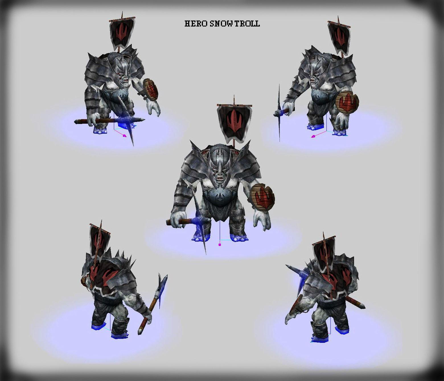 Hero Snow Troll + Snow Trolls (Trolls de las Nieves) EDICIÒN ESPECIAL! 2b2zaf