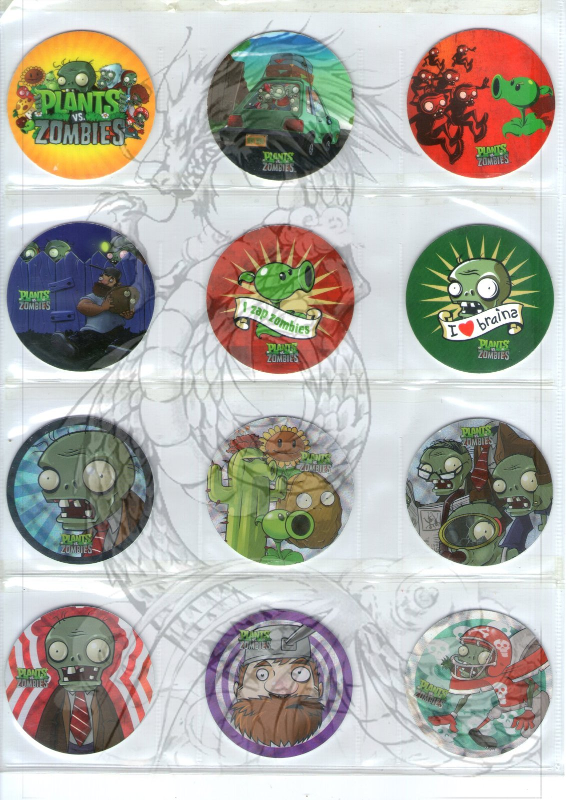 Tazos Plantas Vs Zombies de SABRITAS 2cp9t94