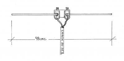 Dipolo Bibanda (Vhf-Uhf) 2czr13r