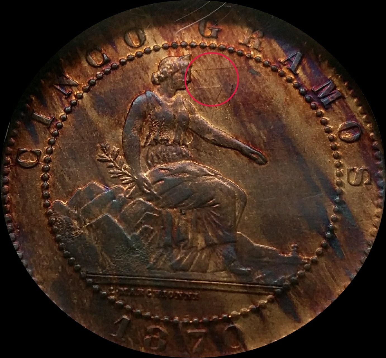5 céntimos 1870 NGC MS 64 RB 2da15jk