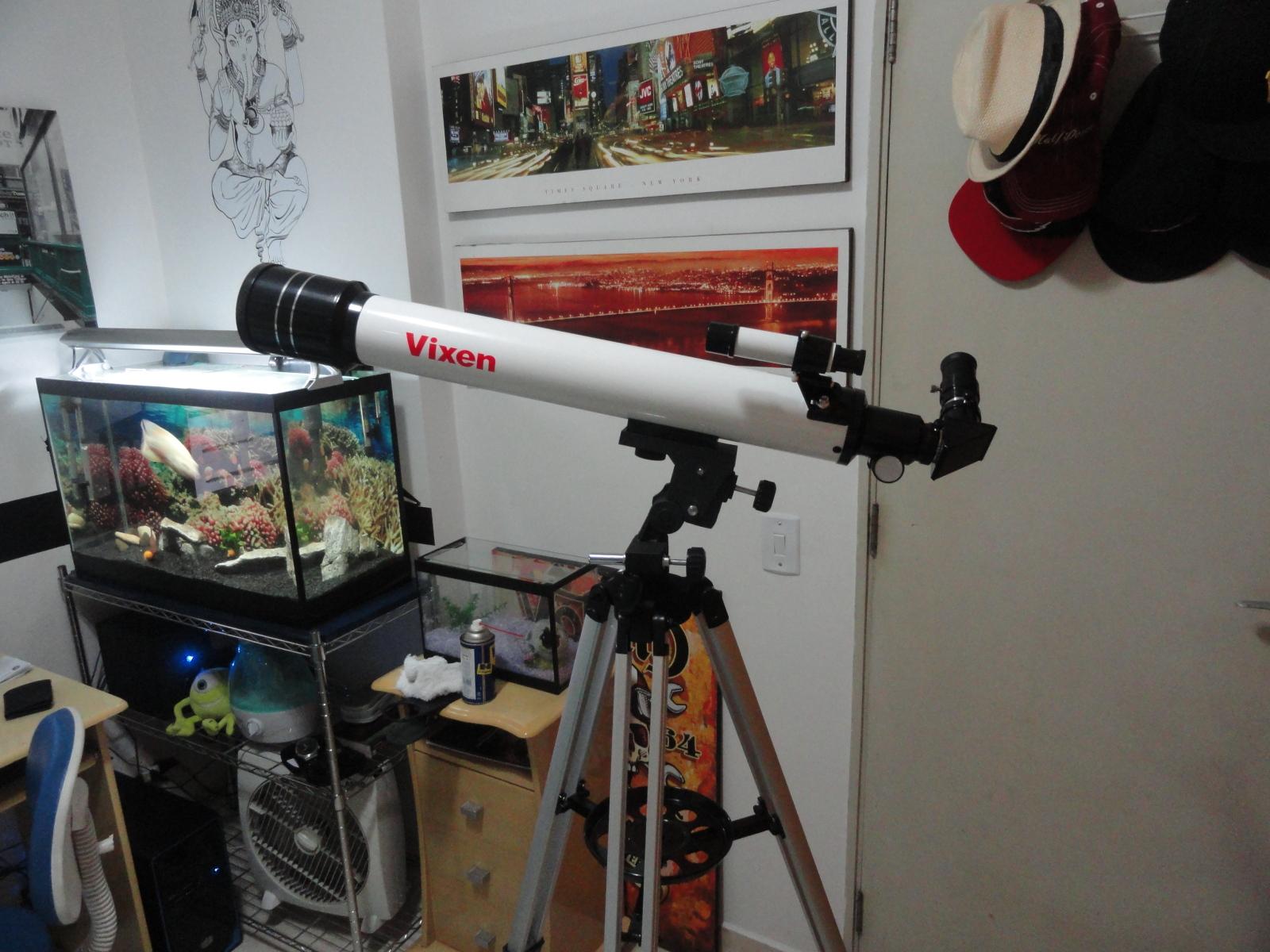 VENDO - Telescópio Refrator Vixen 70mm F/d 10 + Ocular 2x Barlow Gso 2gy2ekh