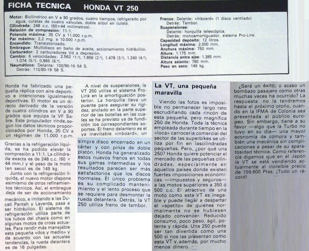 Honda VT 250 F 2ic2ypj