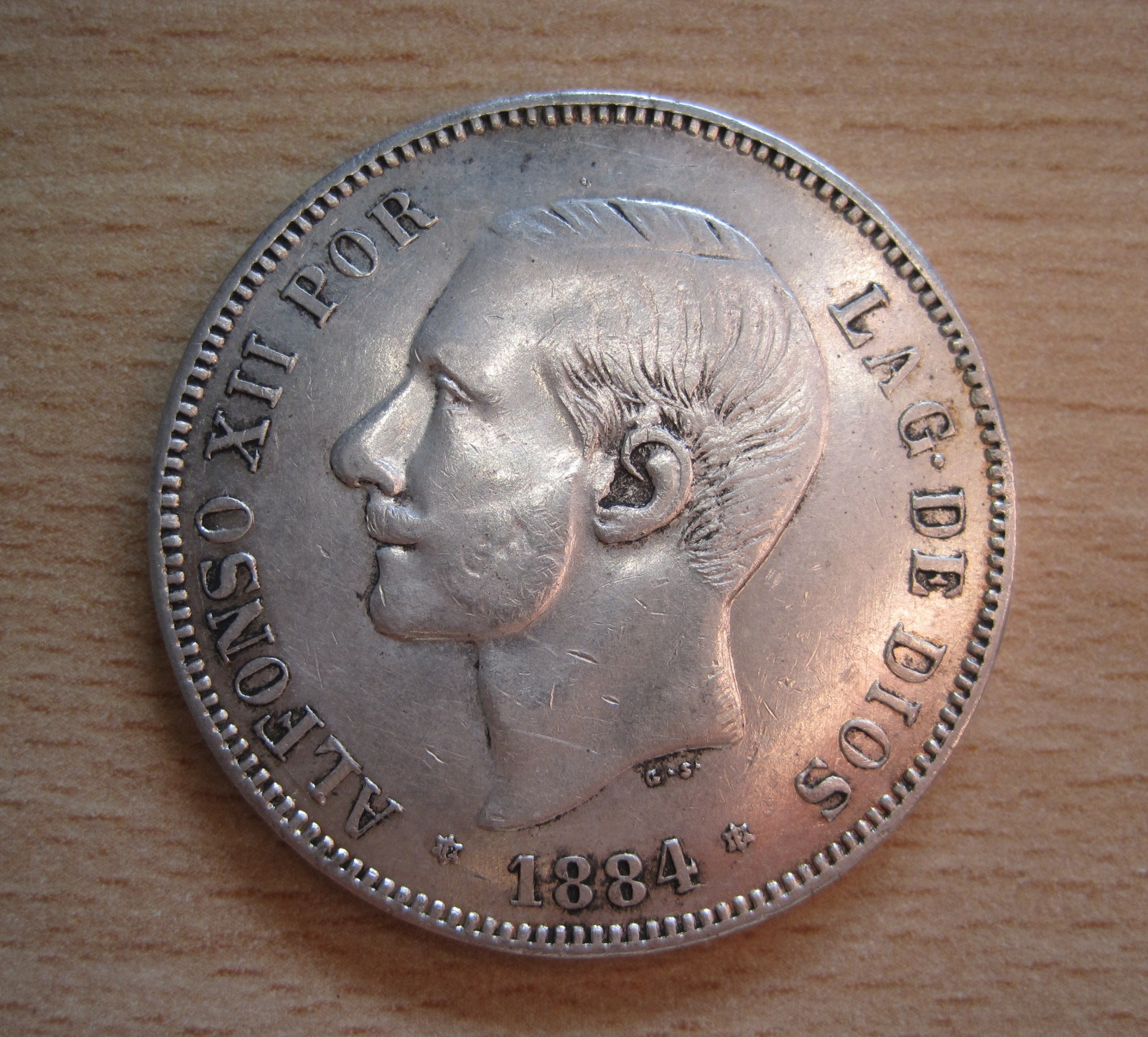 5 Pesetas 1884, Falsa Duro Sevillano 2ilja1e