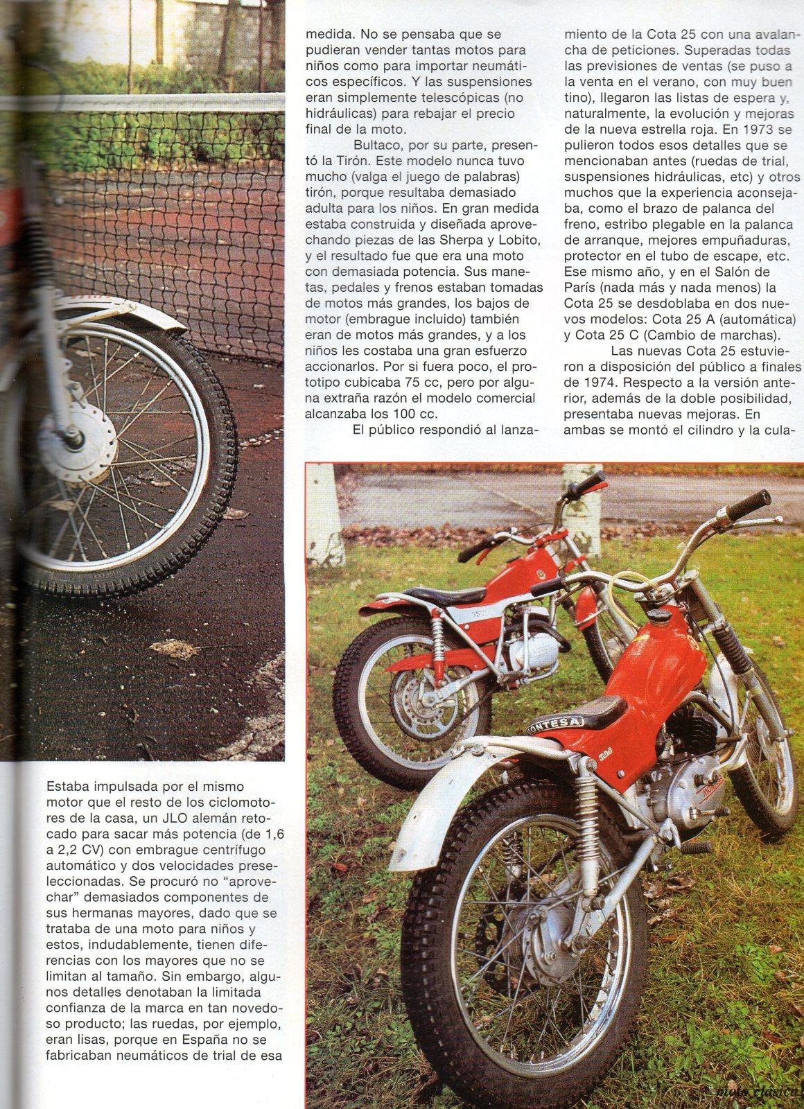 Comparativa Cota 25 con Bultaco chispa 2irxm51