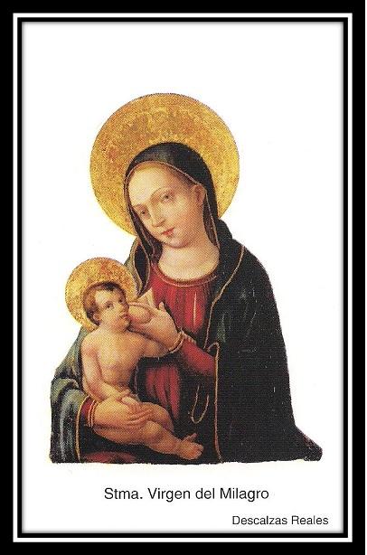 milagro - Ntra. Sra. del Milagro de las MM. Descalzas R. / Sta Clara de Asís S. XVII (RM. SXVII-P99)(MAM) 2libs3k