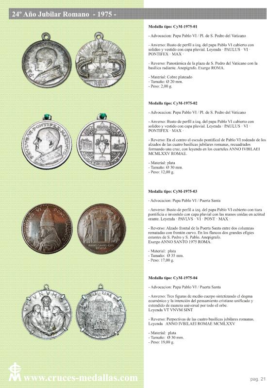 jubilares - Recopilación de medallas con fecha inscrita de los Años Jubilares Romanos  2mzcmr4