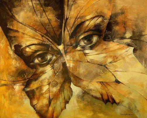 Caras de mujer hechas con flores 2qvhagm
