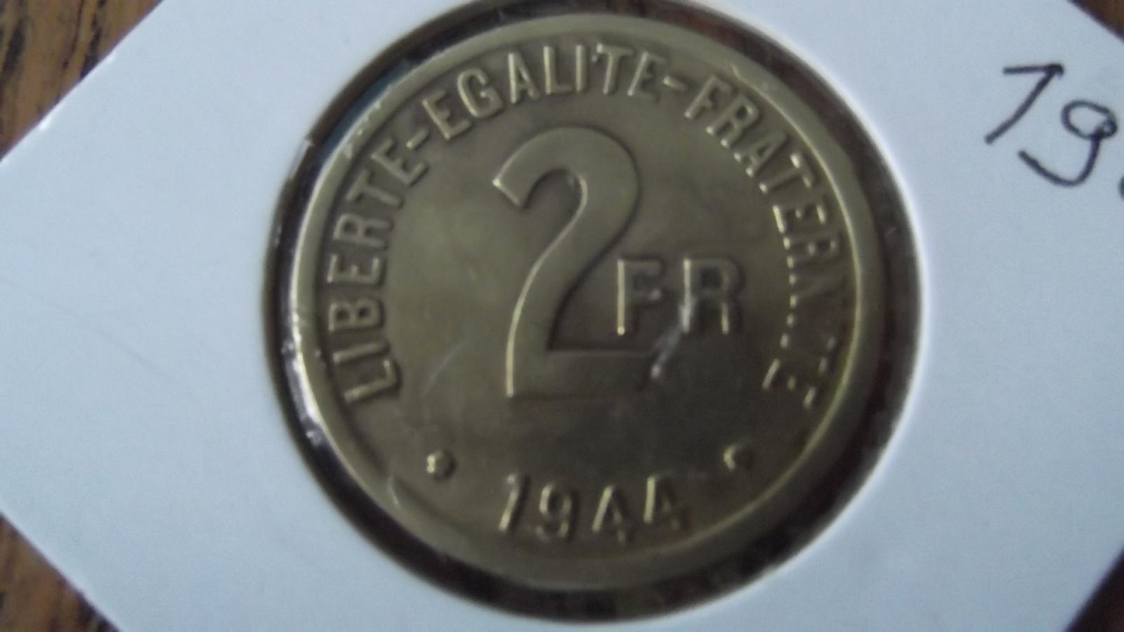 """2 Francs """"France libre"""" 1944 2uot5l3"""