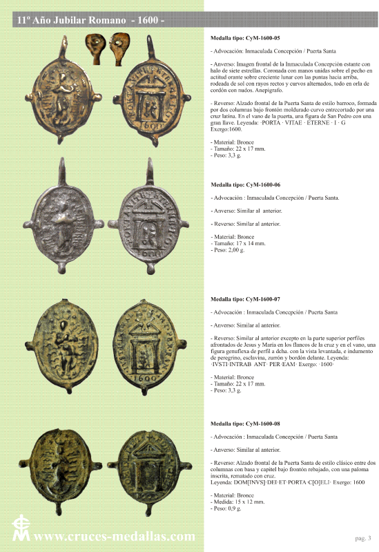 jubilares - Recopilación de medallas con fecha inscrita de los Años Jubilares Romanos  2uzp8hg