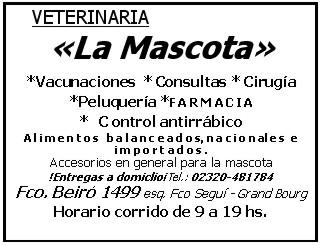 """En Grand Bourg... Veterinaria """"La Mascota"""". 2v1258z"""