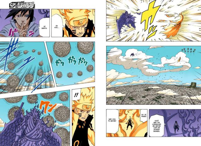 Se Sasuke colocasse o chakra das bijus no próprio corpo na luta final com naruto? Quais efeitos teria? Ganharia gougodamas ou a habilidade de voo? 2z4bpra