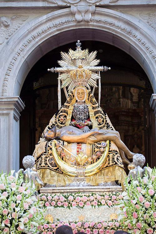 V. Angustias de Granada / Corazón de María con Siete espadas S-XVII (R.M. PFV-Angustias 2)(MAM) 33bek2d