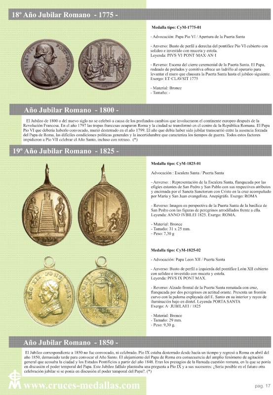 jubilares - Recopilación de medallas con fecha inscrita de los Años Jubilares Romanos  34zkjg8