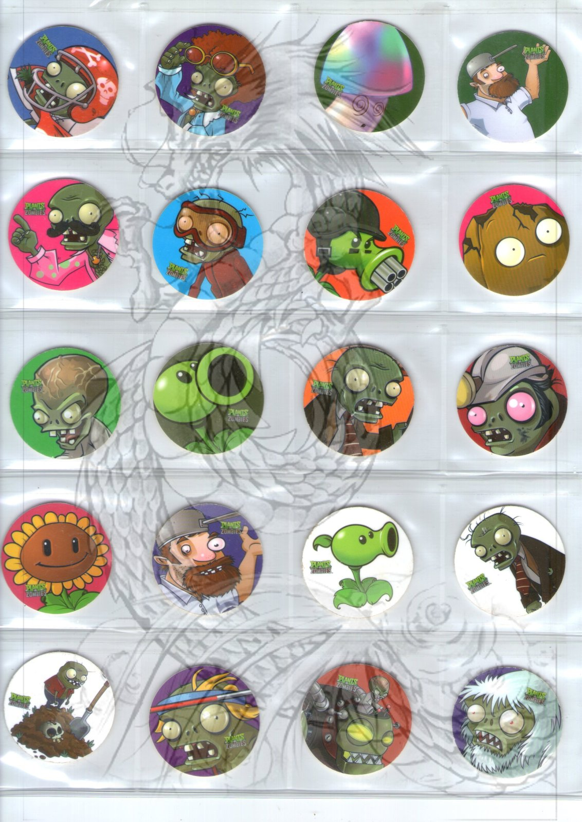 Tazos Plantas Vs Zombies de SABRITAS 357kebs
