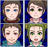 Personajes Faces y Charas niños 5vajh3