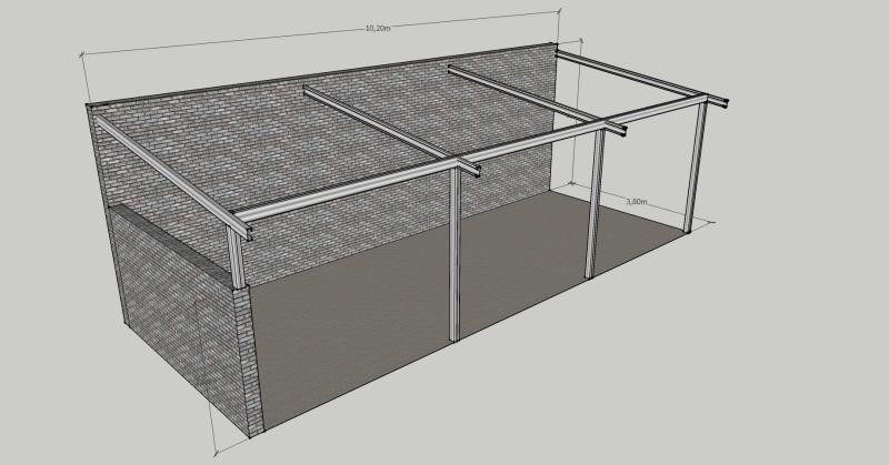 Ayuda para construcción de quincho con estructura metálica 99i7ic