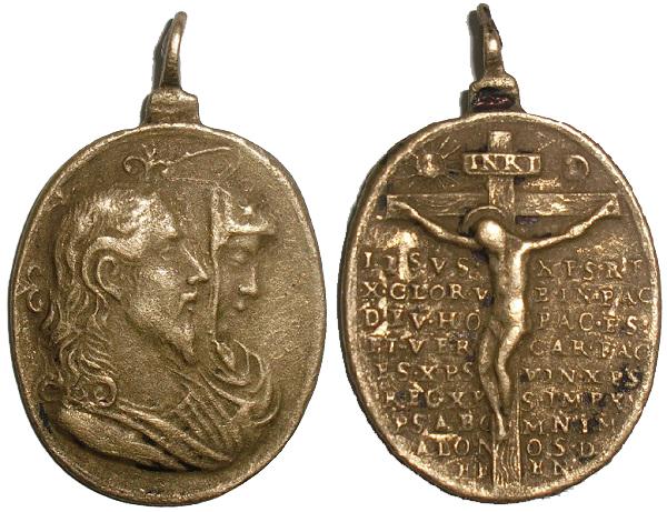 Salvator Mundi · Mater Salvatoris / Jesucristo crucificado y oración, S.XVII (RM.SXVII-O329) Awp8xv
