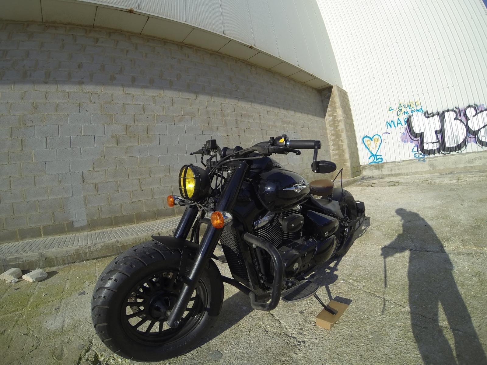 My Intruder c800 black edition bobber project Ay9dz6