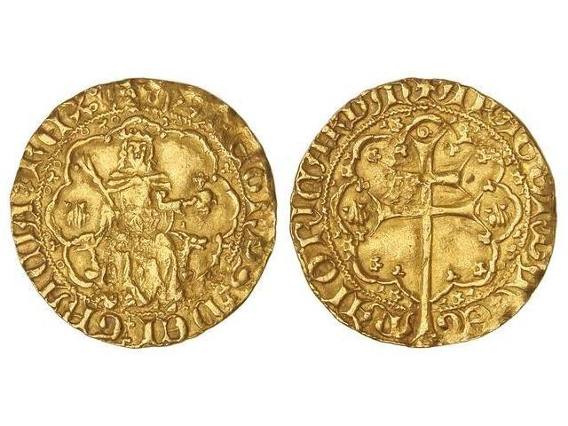 """Rals d'or de Pere I de Mallorca (variantes del tipo """"venera"""") B6vw2u"""