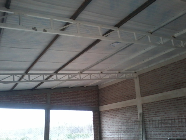 Techo de galpón 11 x 7 metros cabriadas de estructural Dokp6q