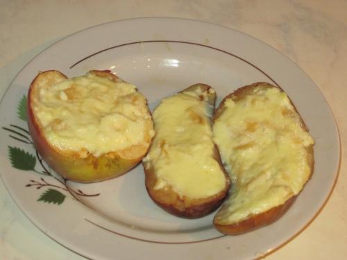 Яблоки и груши с творожным суфле Fne97d