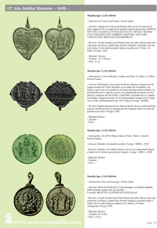jubilares - Recopilación de medallas con fecha inscrita de los Años Jubilares Romanos  Migb9x