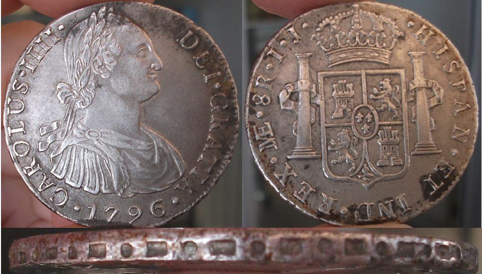 8 Reales Carlos IV 1796 Ceca Lima Nwhlya