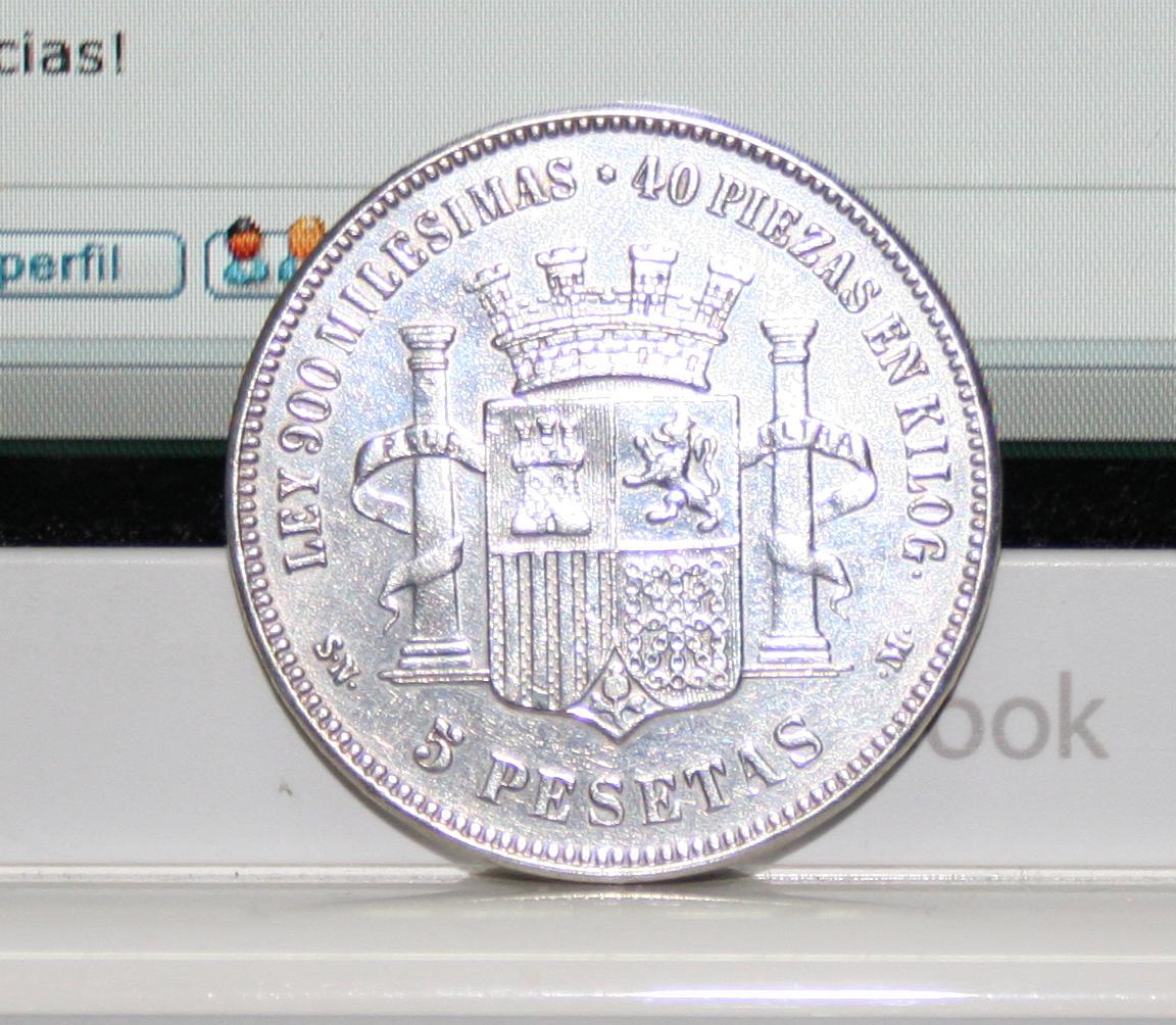 5 pesetas 1870 Falsa de epoca? o ni eso! Sd0k8n