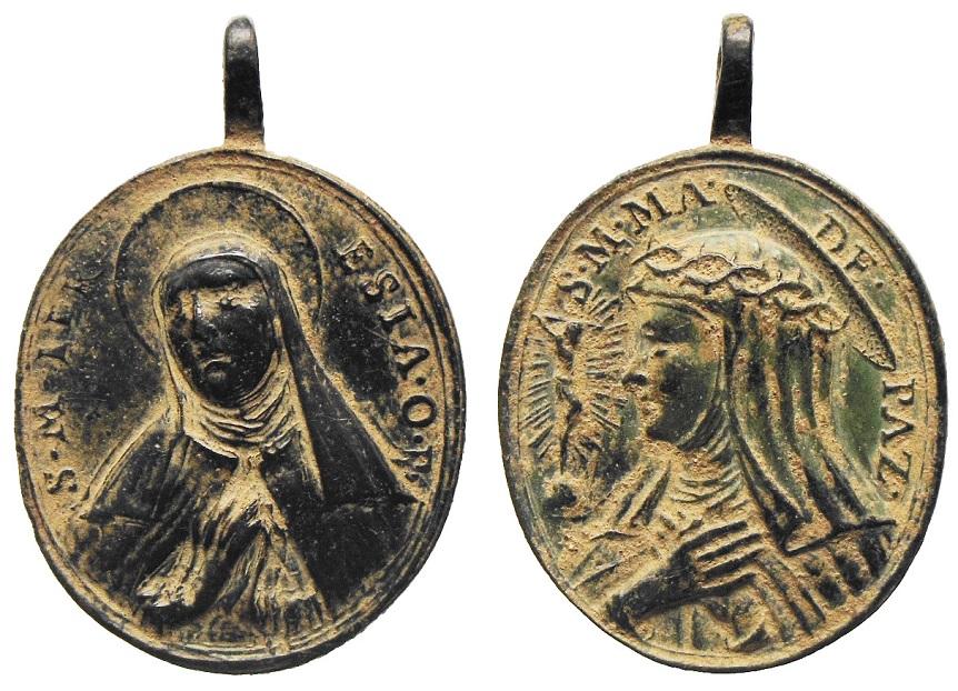 Santa Teresa de Jesús / Santa María Magdalena de Pazzi ( R.M.  SXVIII-O260) Vdcwlc